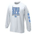 Youth L/S 2017 National Champs UNC Six T (White)