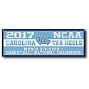 2017 National Champions Color Block Wool Felt Banner