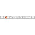 2017 National Champs Long Strip Window Decal