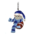 Striped Basketball Snowman Ornament