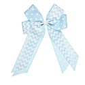 Large Overlay Polka Dot & Chevron Bow with Elastic Ponytail