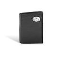 Pebble Grain Black Leather Trifold Wallet