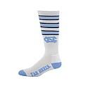 Retro Stripe White Cushioned Crew Socks