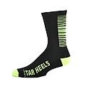 Black and Neon Yellow Hi Tech Cushioned Half Crew Socks