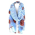 Light Blue & White Striped Basketball Scarf