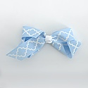 Small Moroccan Tile Print Bow with Alligator Clip