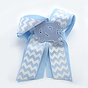 Chevron Cheer Bow with Big NC