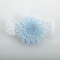 Baby Crochet Headband with NC Flower