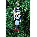 Navy Nutcracker Ornament