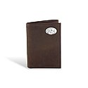 Crazy Horse Leather Passcase Wallet (Brown)