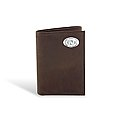 Crazy Horse Leather Trifold Wallet (Brown)