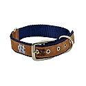 Tan Embroidered and Embossed Dog Collar