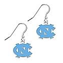 French Hook Carolina Blue Enamel NC Earrings