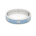 Carolina Blue Repeating NC Bangle Bracelet