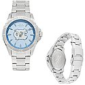 Men's Sport Bracelet Watch with Carolina Blue Face