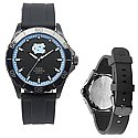 Men's Blackout Silicone Strap Watch