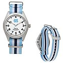 Unisex Nato Striped Strap Watch