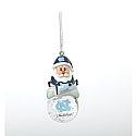 Santa Mini Snow Globe Ornament