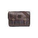 Gridiron Messenger Bag (Brown)