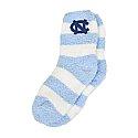 Ladies Fuzzy Striped Socks