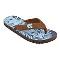 Men's Spring Break Flip Flops (Tropical Pattern)