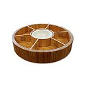 Revolving Lazy Susan Chip and Dip Tray