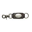 Brown Leather Swivel Hook Key Chain