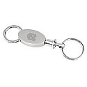 Oval Valet Key Chain