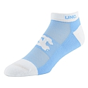 UNC Spirit Cushioned Low Cut Socks w/Mesh Venting (CB/White)
