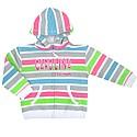 Toddler Girls Prism Full Zip Hood (White/Neon Stripe)