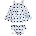 Infant Girls Polka Dot White Dress (White)