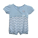 Infant Short Sleeve Chevron Romper (CB/White)