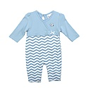 Infant L/S & Long Leg Chevron Romper (CB/White)