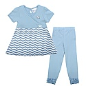 Toddler Chevron Top & Leggings Set (CB/White)