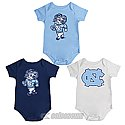 Infant Triple Play 3-Pack Onesie Set (CB/Navy/White)