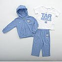 Infant Sport Set (F/Z Hood, T & Pants) (CB/White)