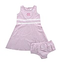 Toddler Highpoint Seersucker Dress with Bloomers (Pink)