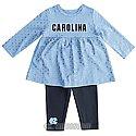 Infant Shining Polka Dot Dress & Leggings Set (CB/FauxDenim)