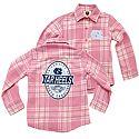 Kids' (Girls') L/S Flannel Shirt (Pink Plaid)