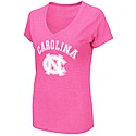 Juniors' Electric V-neck T (Neon Pink)