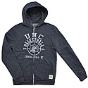 Vintage Basketball Tri-Blend Full-Zip Hood (Navy)