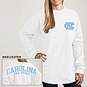 Juniors' L/S Rah Rah T (White)