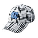 Flux Mesh Stretch One-Fit Hat (White/Grey Plaid)