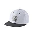 Nike True Platinum Swooshflex Flat Bill Hat (White)