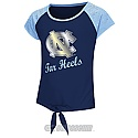 Youth Girls' Geo Tie Front Raglan T (Navy)