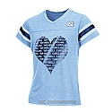 Youth Girls' Big Heart V-Neck T (CB)