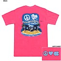 Peace and Love Tropical T (Hot Pink)