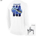 Long Sleeve Guy Harvey Triple Threat T (White)