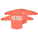 Ladies' Long Sleeve Big Time Sweeper T (Neon Red-Orange)