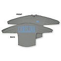 Ladies' L/S Stripe Sweeper T (Grey)